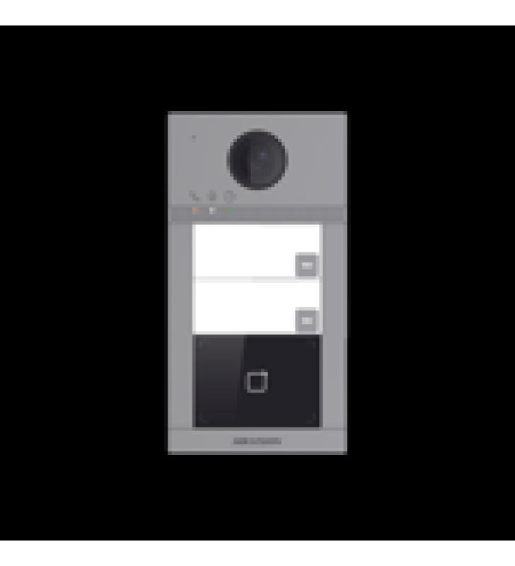VIDEOPORTERO IP WIFI  (IP65 + IK08) CON LLAMADA Y APERTURA DESDE APP HIK-CONNECT / SOPORTA 2 DEPARTAMENTOS / POE ESTANDAR  / INTERFAZ WEB PARA CONFIGURACION / 2 PUERTAS