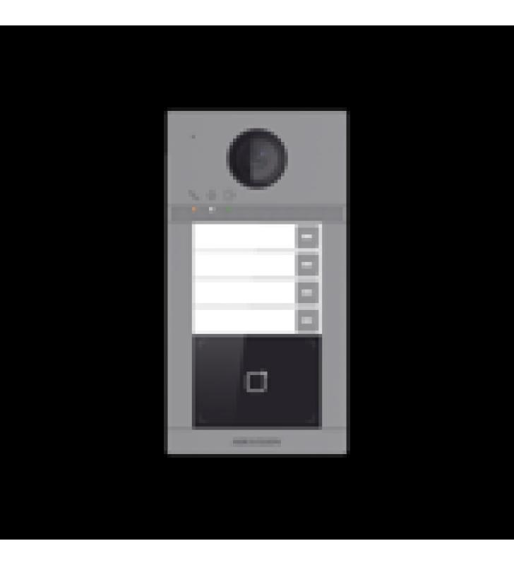 VIDEOPORTERO IP WIFI (IP65 + IK08) CON LLAMADA Y APERTURA DESDE APP HIK-CONNECT / SOPORTA 4 DEPARTAMENTOS / POE ESTANDAR / INTERFAZ WEB PARA CONFIGURACION / 2 PUERTAS