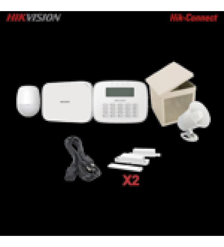 KIT PANEL DE ALARMA / 1 PANEL HIBRIDO / 1 MONITOR LCD / 1 PIR / 2 CONTACTOS MAGNETICOS / 1 CABLE DE ALIMENTACION / 1 SIRENA / 1 GABINETE PARA SIRENA