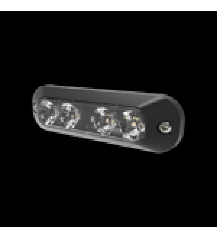 LUZ PERIMETRAL, 4 LEDS ULTRA BRILLANTES, COLOR AMBAR / ROJO
