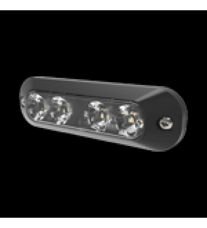 LUZ PERIMETRAL, 4 LEDS ULTRA BRILLANTES, COLOR AZUL / CLARO