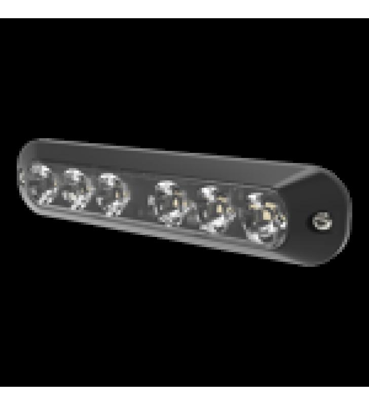 LUZ AUXILIAR SERIE X3705, 6 LEDS ULTRA BRILLANTES, COLOR ROJO / AZUL