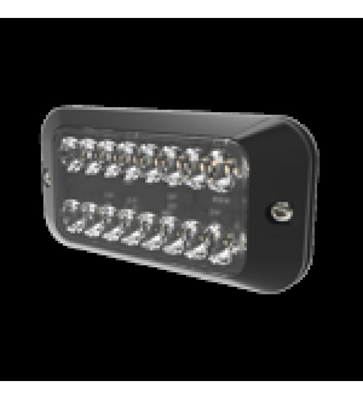 LUZ AUXILIAR SERIE EDX3789, 8 LEDS ULTRA BRILLANTES, COLOR AMBAR CLARO.