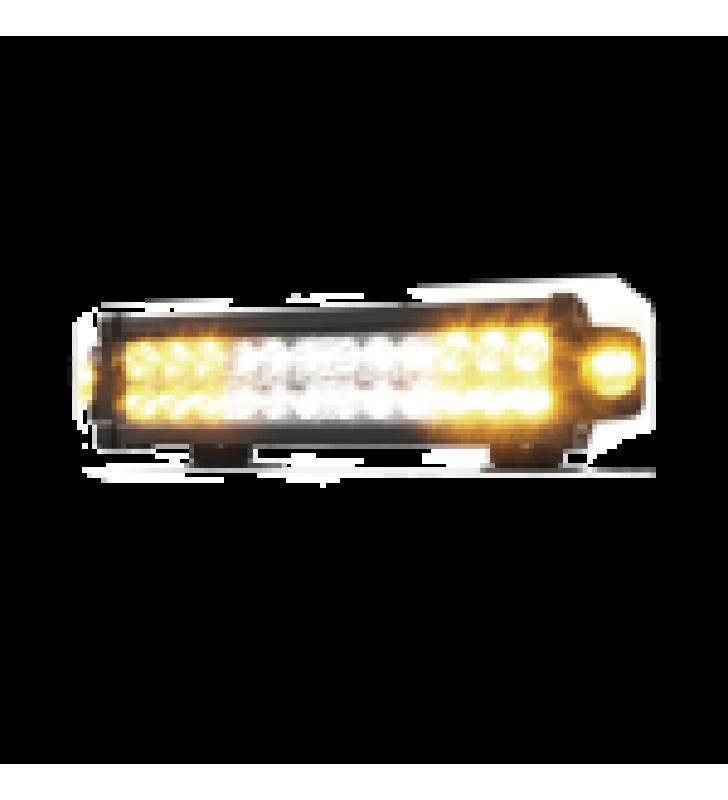 BARRA LED DE  13.6 PULGADAS DOBLE HILERA, CON LUCES DE TRABAJO, AMBAR CLARO,  12-24 VCD