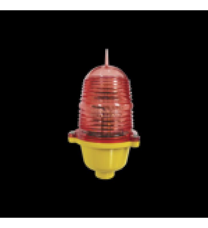 LAMPARA DE OBSTRUCCION LED COLOR ROJO (110 VCA DE ENTRADA) / LUZ FIJA