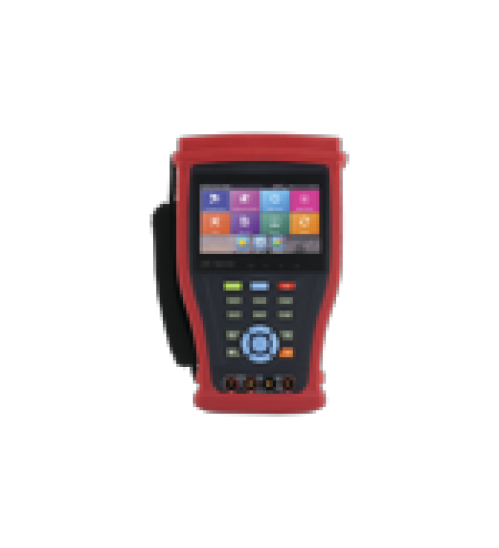 PROBADOR DE VIDEO ANDROID CON PANTALLA LCD DE 4.3 PARA IP 4K / HD-TVI (8MP), HD-CVI (8MP), AHD (5MP) / MULTIMETRO DIGITAL, HDMI ENTRADA/ SALIDA, WIFI