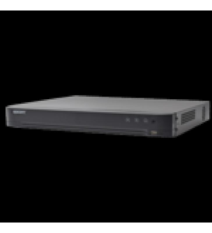 DVR 4 MEGAPIXEL / 4 CANALES TURBOHD + 2 CANALES IP / DETECCION DE ROSTROS / 1 BAHIA DE DISCO DURO / AUDIO POR COAXITRON / SALIDA DE VIDEO EN FULL HD