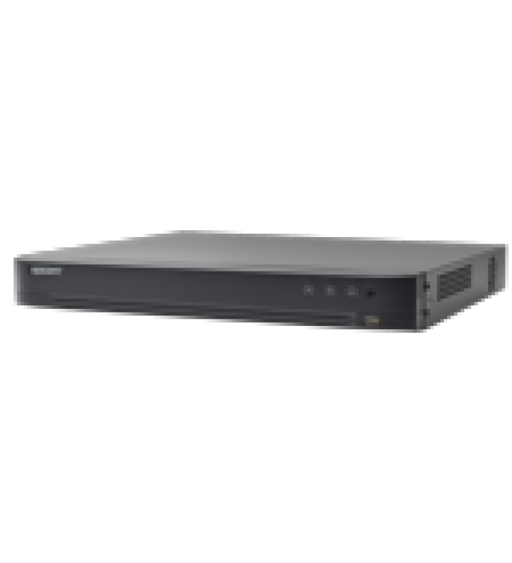 DVR 4 MEGAPIXEL / 8 CANALES TURBOHD + 4 CANALES IP / DETECCION DE ROSTROS / 1 BAHIA DE DISCO DURO / AUDIO POR COAXITRON / SALIDA DE VIDEO EN FULL HD
