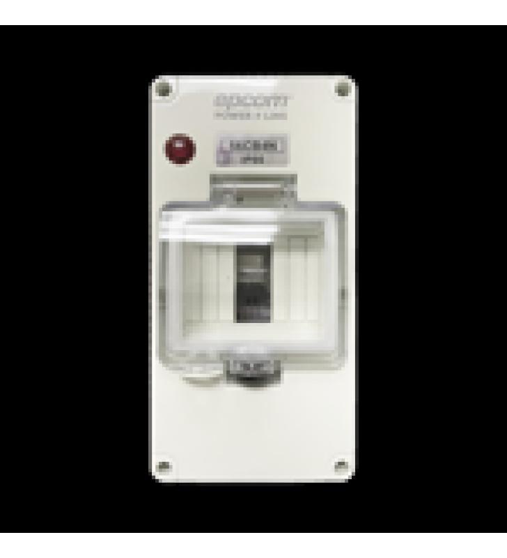 GABINETE PLASTICO PARA EXTERIOR IP66 PARA RIEL DIN