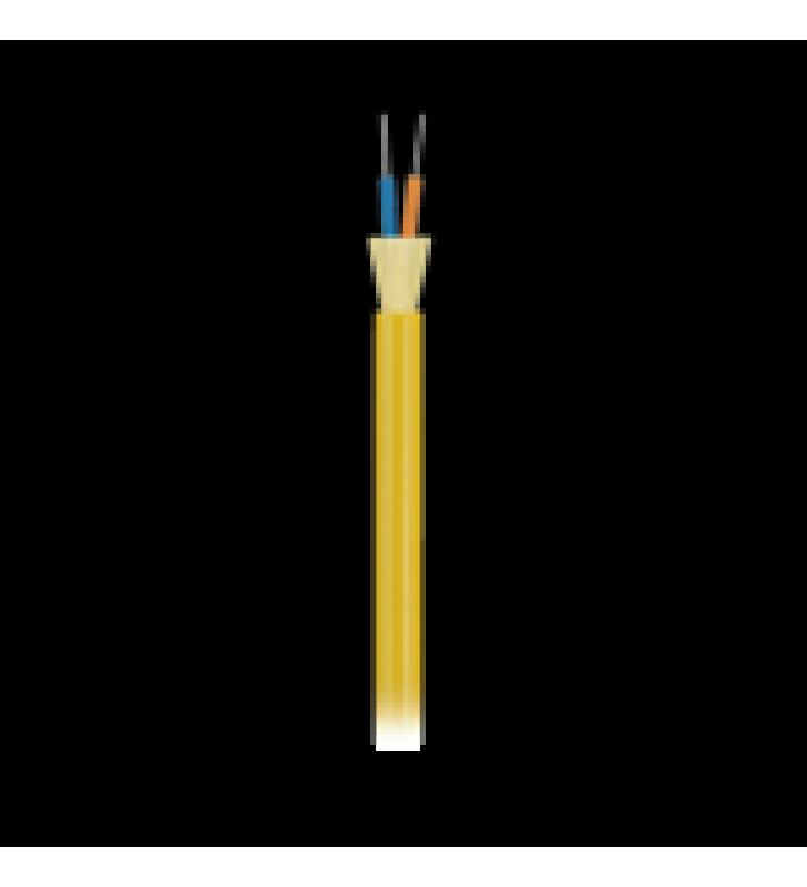 CABLE DE FIBRA OPTICA DE 2 HILOS (G.657.A1), MONOMODO OS2 9/125, INTERIOR, TIGHT BUFFER 900UM, NO CONDUCTIVA (DIELECTRICA), RISER, PRECIO POR METRO