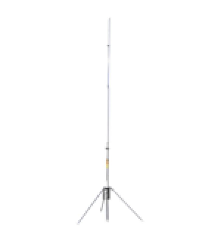 ANTENA BASE VHF, DE ALUMINIO / FIBRA DE VIDRIO , RANGO DE FRECUENCIA 136-148 MHZ, 3 DB DE GANANCIA