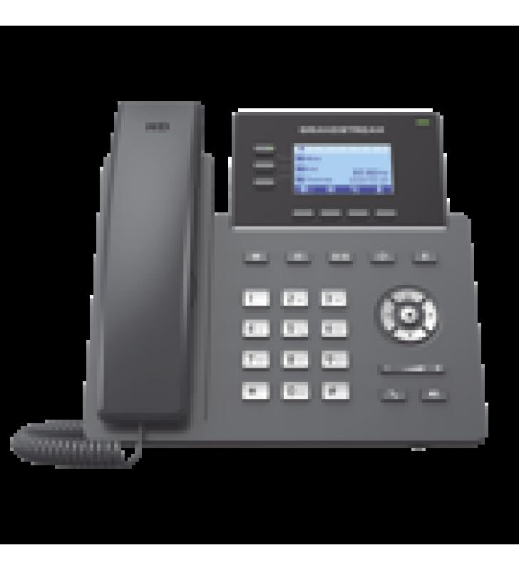 TELEFONO IP GRADO OPERADOR, 3 LINEAS SIP CON 6 CUENTAS, PUERTOS GIGABIT POE, CODEC OPUS, IPV4/IPV6 CON GESTION EN LA NUBE GDMS