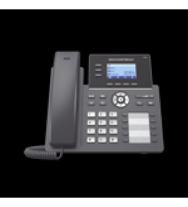 TELEFONO IP GRADO OPERADOR, 3 LINEAS SIP CON 6 CUENTAS, 10 BOTONES BLF, PUERTOS GIGABIT, CODEC OPUS, IPV4/IPV6 CON GESTION EN LA NUBE GDMS