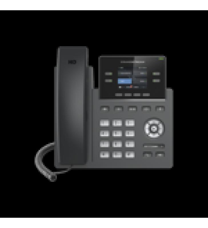 TELEFONO IP GRADO OPERADOR, 2 LINEAS SIP CON 2 CUENTAS, PANTALLA A COLOR 2.4, CODEC OPUS, IPV4/IPV6 CON GESTION EN LA NUBE GDMS