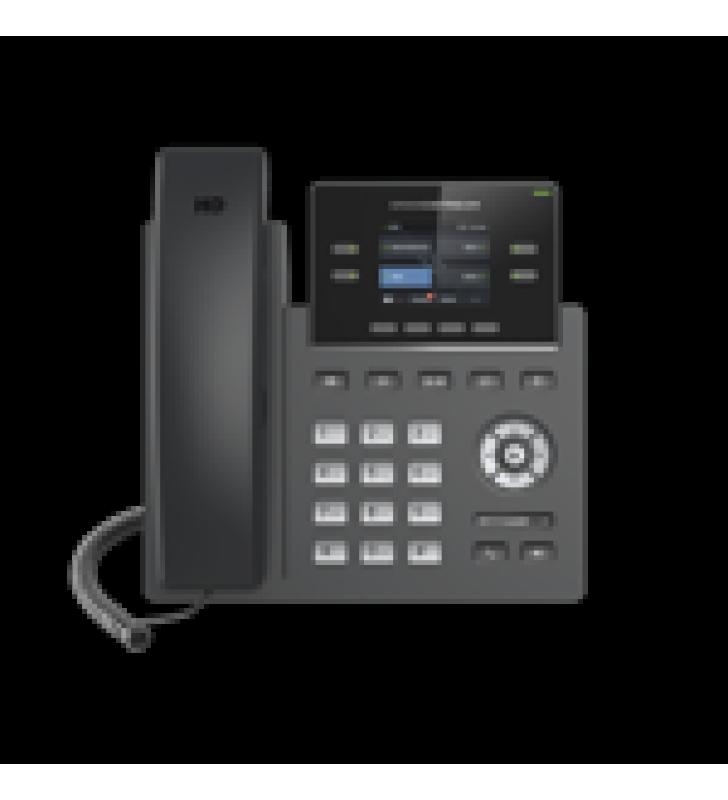 TELEFONO IP WI-FI, GRADO OPERADOR, 2 LINEAS SIP CON 2 CUENTAS, PANTALLA A COLOR 2.4, CODEC OPUS, IPV4/IPV6 CON GESTION EN LA NUBE GDMS