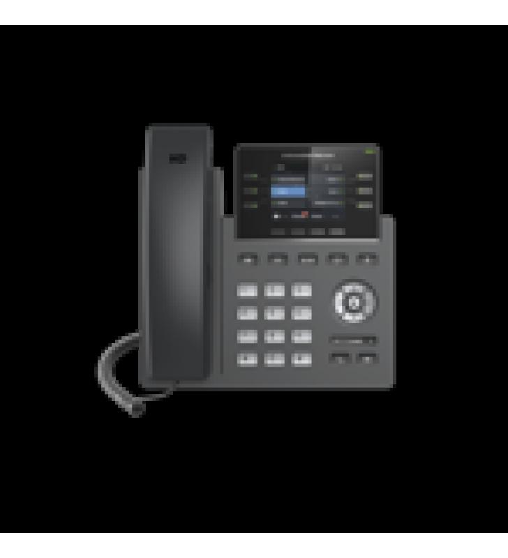 TELEFONO IP GRADO OPERADOR, 3 LINEAS SIP CON 6 CUENTAS, PUERTOS GIGABIT,POE,  PANTALLA A COLOR 2.4, CODEC OPUS, IPV4/IPV6 CON GESTION EN LA NUBE GDMS