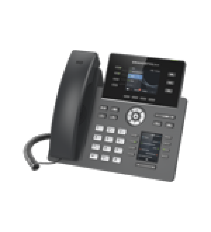 TELEFONO IP WI-FI, GRADO OPERADOR, 4 LINEAS SIP CON 4 CUENTAS, PANTALLA A COLOR 2.8, PUERTOS GIGABIT, BLUETOOTH, POE, CODEC OPUS, IPV4/IPV6 CON GESTION EN LA NUBE GDMS