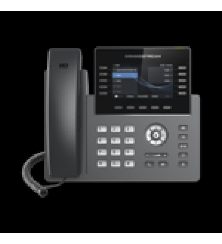 TELEFONO IP WI-FI, GRADO OPERADOR, 10 LINEAS SIP CON 5 CUENTAS, PANTALLA A COLOR 2.8, PUERTOS GIGABIT, BLUETOOTH, POE, CODEC OPUS, IPV4/IPV6 CON GESTION EN LA NUBE GDMS