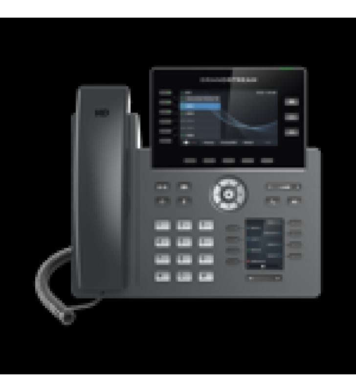 TELEFONO IP WI-FI, GRADO OPERADOR, 6 LINEAS SIP CON 6 CUENTAS, PANTALLA A COLOR 2.8, PUERTOS GIGABIT, BLUETOOTH, POE, CODEC OPUS, IPV4/IPV6 CON GESTION EN LA NUBE GDMS