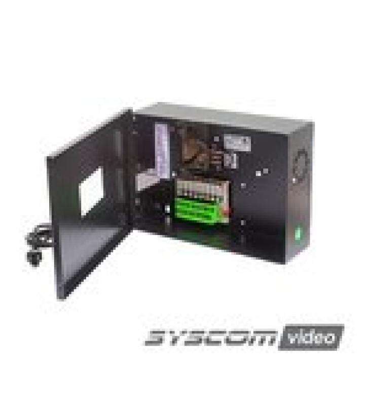 FUENTE DE PODER PROFESIONAL CCTV DE 24 VCA @4A, 8 CAMARAS, VOLT. DE ENTRADA: 115, 127, 132 VCA (SELECCIONABLE).