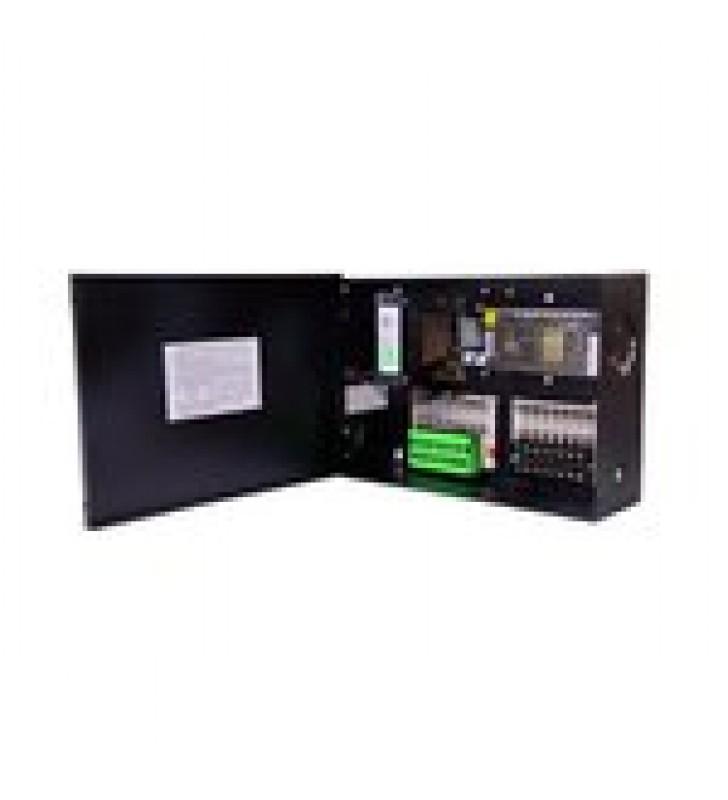 FUENTE DE PODER PROFESIONAL CCTV DUAL DE 24 VCA@8A (8 CAMARAS) Y 12 VCD@5A (8 CAMARAS) VOLT. DE ENTRADA: 115, 127, 132 VCA (SELECCIONABLE).