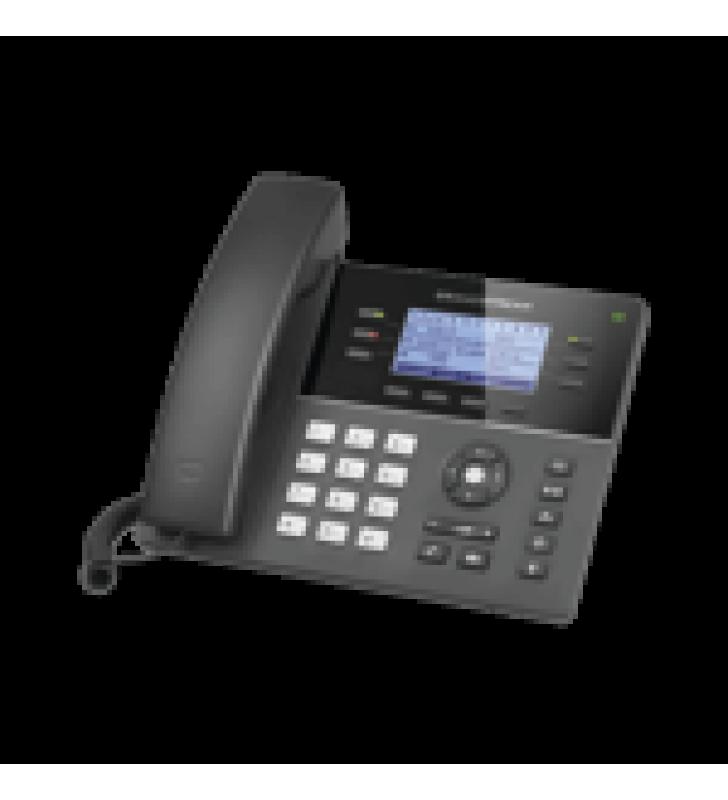 TELEFONO IP WIFI GAMA MEDIA DE 6 LINEAS CON 4 TECLAS DE FUNCION, 24 TECLAS DE EXTENSION BLF DIGITAL Y CONFERENCIA DE 5 VIAS POE