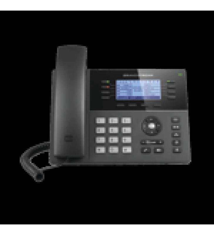 TELEFONO IP GAMA MEDIA DE 8 LINEAS CON 4 TECLAS DE FUNCION, 32 TECLAS DE EXTENSION BLF DIGITAL Y CONFERENCIA DE 5 VIAS POE GIGABIT