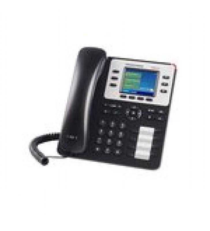 TELEFONO IP EMPRESARIAL DE 3 LINEAS CON 4 TECLAS DE FUNCION, 8 TECLAS DE EXTENSION BLF Y CONFERENCIA DE 4 VIAS. POE