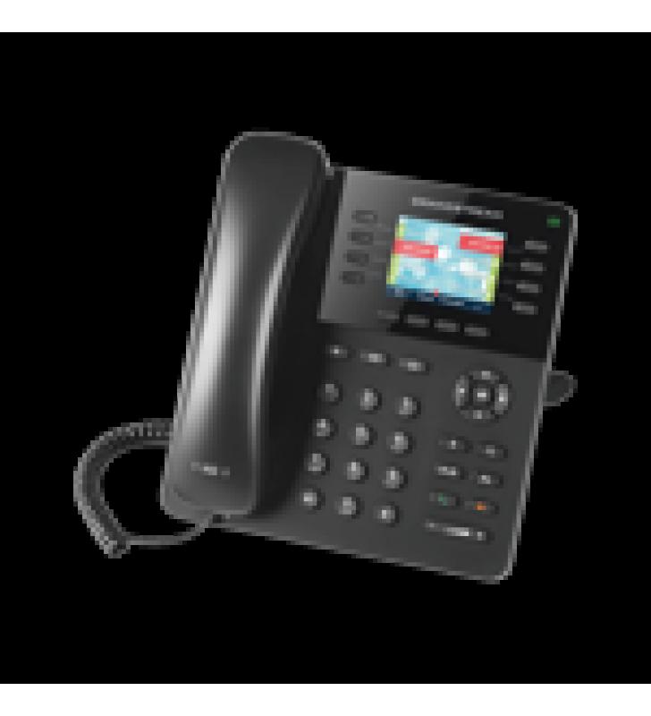 TELEFONO IP SMB POE 8 LINEAS 4 TECLAS DE FUNCION Y CONFERENCIA DE 4 VIAS. POE