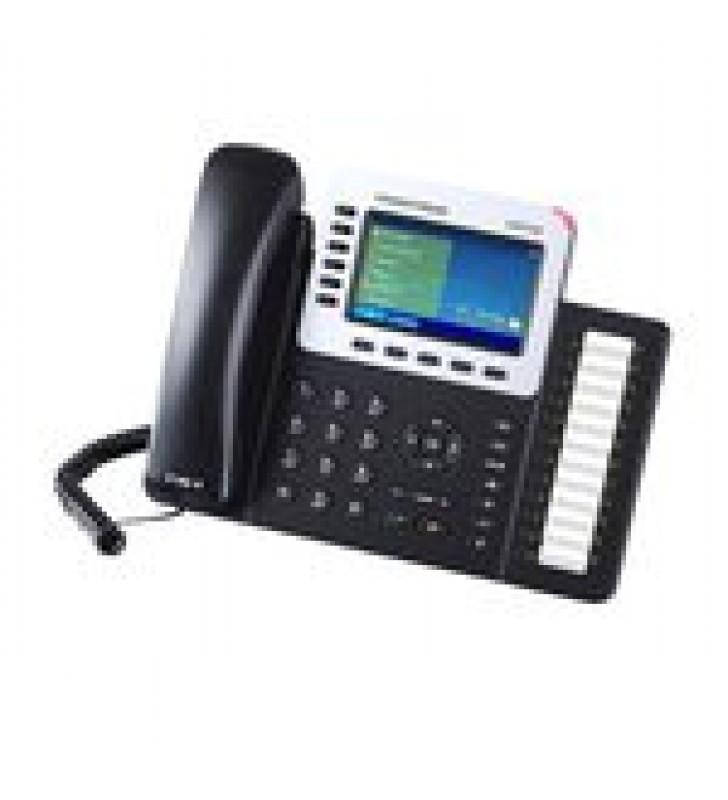 TELEFONO IP EMPRESARIAL DE 6 LINEAS CON PANTALLA A COLOR Y AUDIO HD, POE