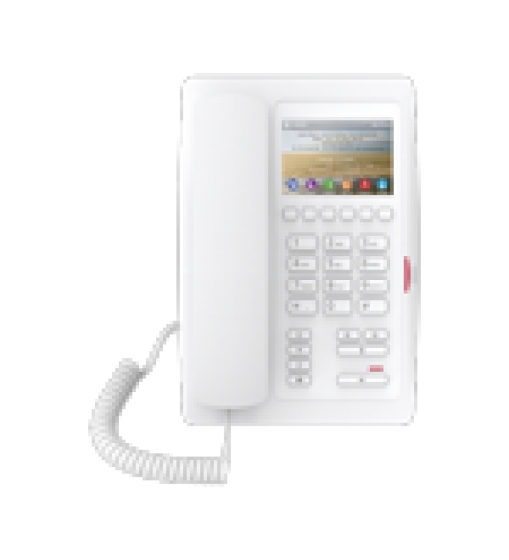 TELEFONO PARA HOTELERIA, PROFESIONAL DE GAMA ALTA CON PANTALLA LCD DE 3.5 PULGADAS A COLOR, 6 TECLAS PROGRAMABLES PARA SERVICIO RAPIDO (HOTLINE) POE
