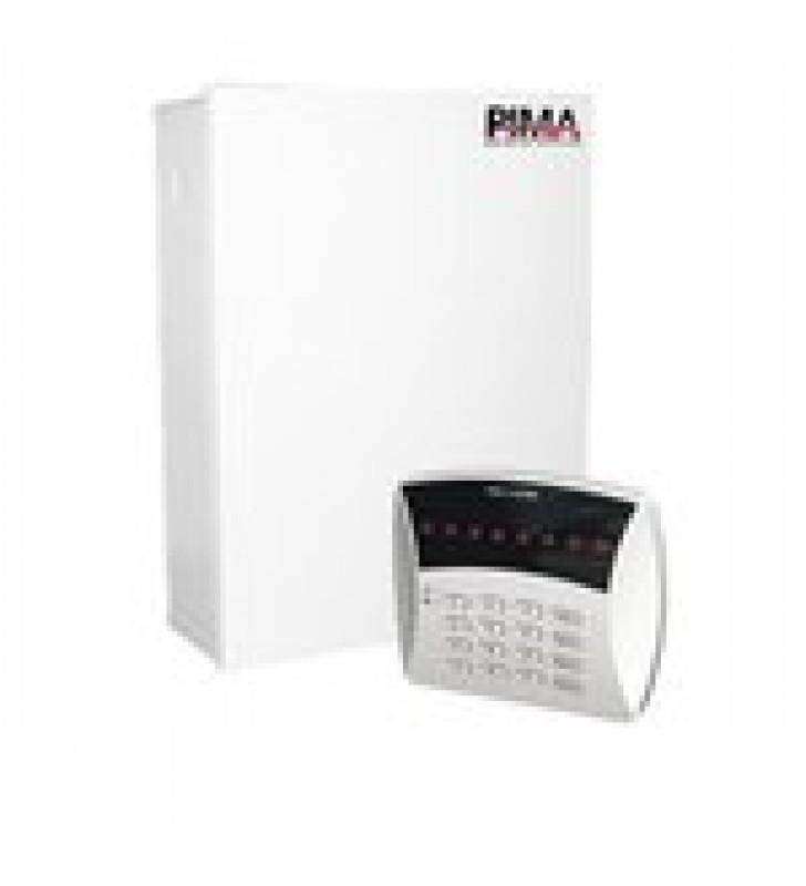 KIT DE ALARMA DE 6 ZONAS Y TECLADO LED 6 ZONAS. TRIPLE COMUNICADOR RADIO/TELEFONO/GSM. INCLUYE GABINETE