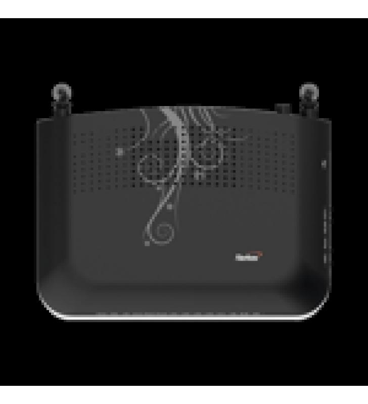 ONU GPON CON 4 PUERTOS GIGABIT ETHERNET + 2 POTS + 1 USB + 1 CATV (RF) + WIFI 2.4 GHZ