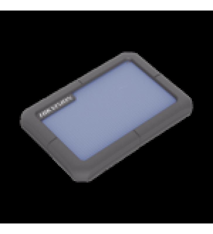 DISCO DURO PORTATIL 1 TB / COLOR AZUL / CONECTOR USB 3.0 A MICRO B / CUBIERTA CON GOMA PROTECTORA PARA AMORTIGUAR LAS CAIDAS