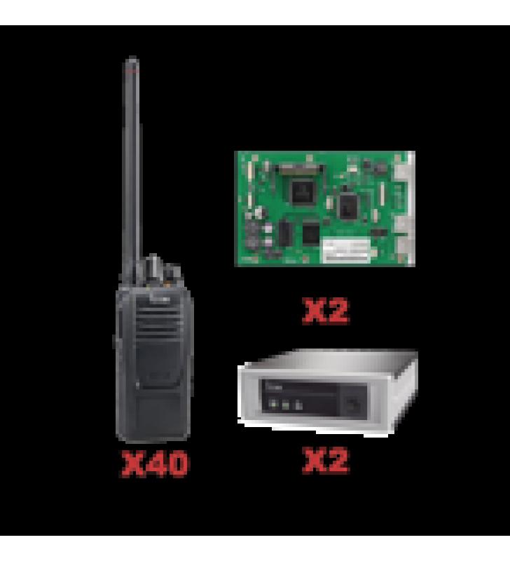 SISTEMA TRONCAL VHF DE 2 CANALES INC/ 2 TARJETAS Y 40 RADIOS