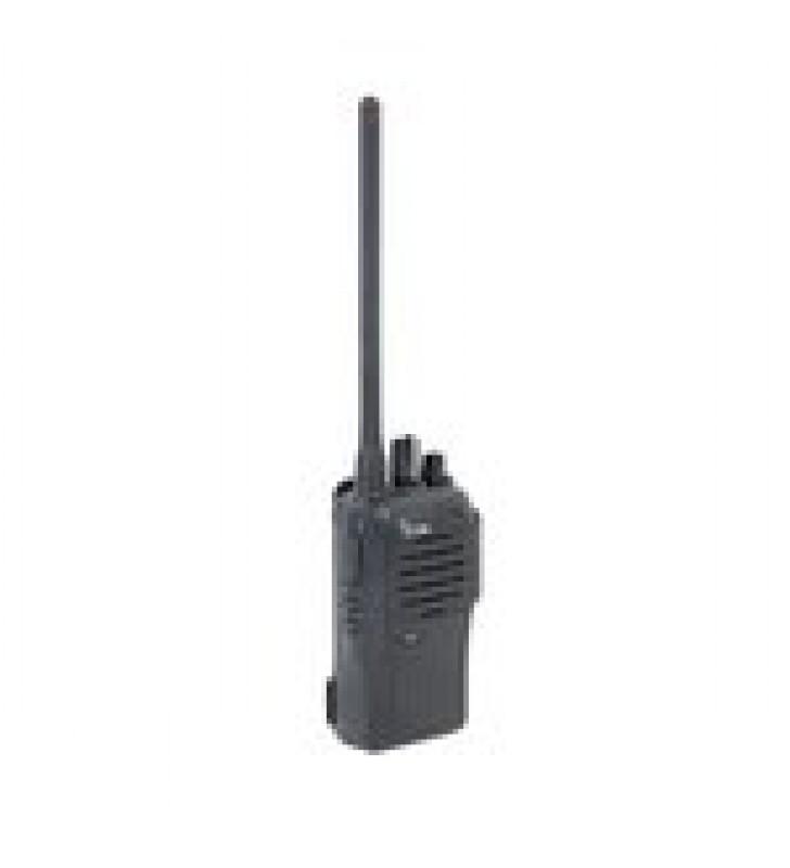 RADIO PORTATIL DIGITAL Y ANALOGICO EN RANGO DE FRECUENCIA 136-174MHZ, 16 CANALES, 5 W DE POTENCIA DE RF. INCLUYE ANTENA, CARGADOR Y BATERIA.