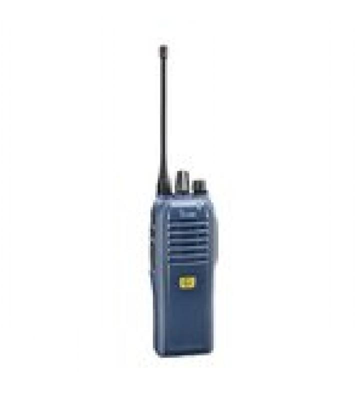 RADIO PORTATIL DIGITAL Y ANALOGICO IS CERTIFICADO ATEX, EN LA BANDA DE 136-174 MHZ, 16 CANALES, 1W DE TX  BATERIA, CARGADOR, ANTENA Y CLIP INCLUIDOS.