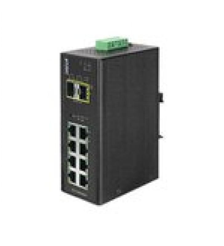 SWITCH INDUSTRIAL ADMINISTRABLE DE 8 PUERTOS 1GB + 2 PUERTOS SFP 1GB -40~75?C