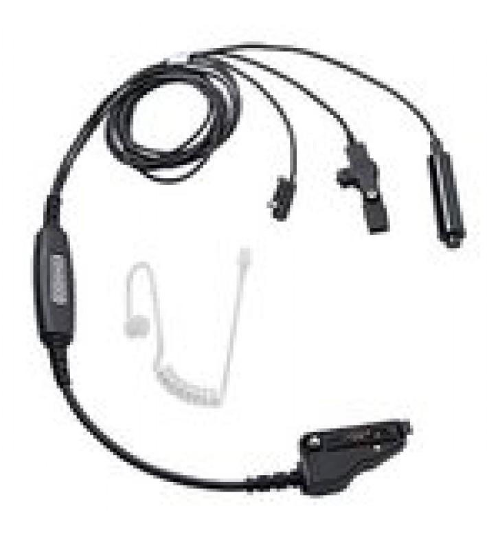 MICROFONO CON AUDIFONO 3 CABLES COLOR NEGRO (IS) P/ TK2140-3140/ TK280-380/ TK-480/ TK2180-3180/ NX200-300.
