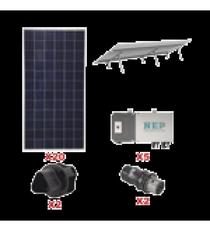 KIT SOLAR PARA INTERCONEXION DE 5.5 KW DE POTENCIA, 110 VCA CON MICRO INVERSORES Y PANELES POLICRISTALINOS