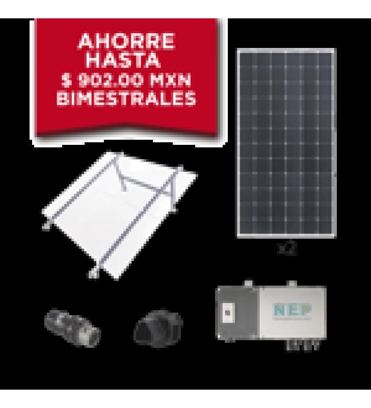 KIT SOLAR PARA INTERCONEXION DE 550 W DE POTENCIA, 220 VCA CON MICRO INVERSORES Y PANELES MONOCRISTALINOS DE  MAXIMA EFICIENCIA.