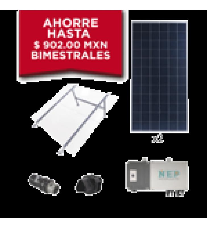 KIT SOLAR PARA INTERCONEXION DE 550 W DE POTENCIA, 220 VCA CON MICROINVERSORES Y PANELES POLICRISTALINOS