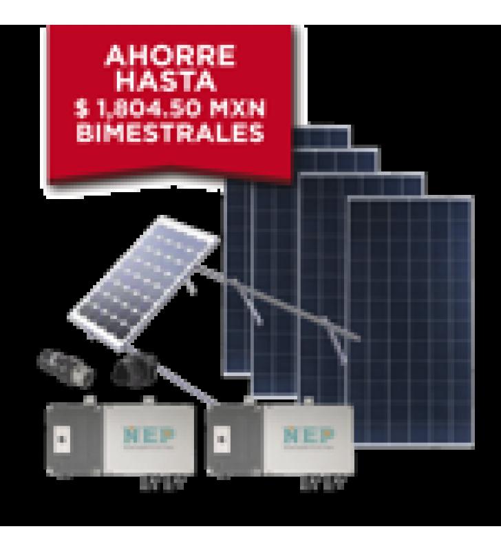 KIT SOLAR PARA INTERCONEXION DE 1.1 KW DE POTENCIA, 220 VCA CON MICRO INVERSORES Y PANELES POLICRISTALINOS.