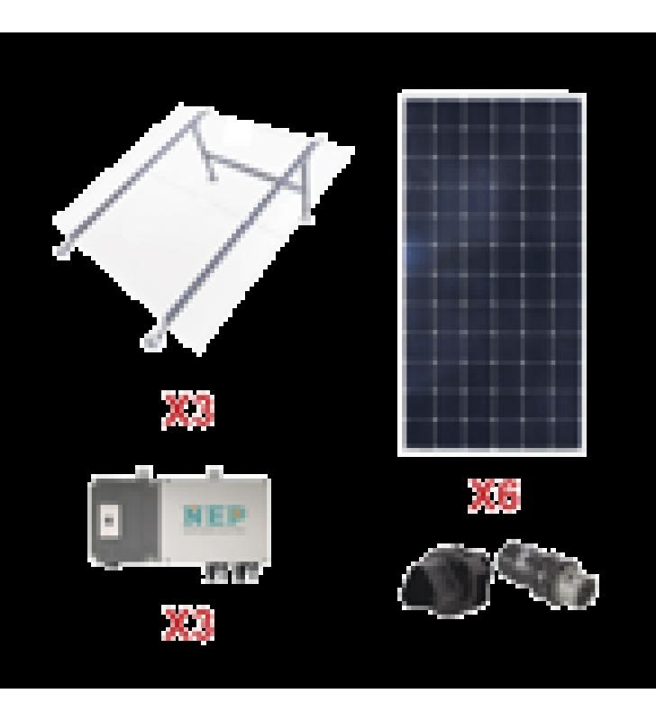 KIT SOLAR PARA INTERCONEXION DE 1.65 KW DE POTENCIA, 220 VCA CON MICRO INVERSORES Y PANELES MONOCRISTALINOS DE MAXIMA EFICIENCIA.