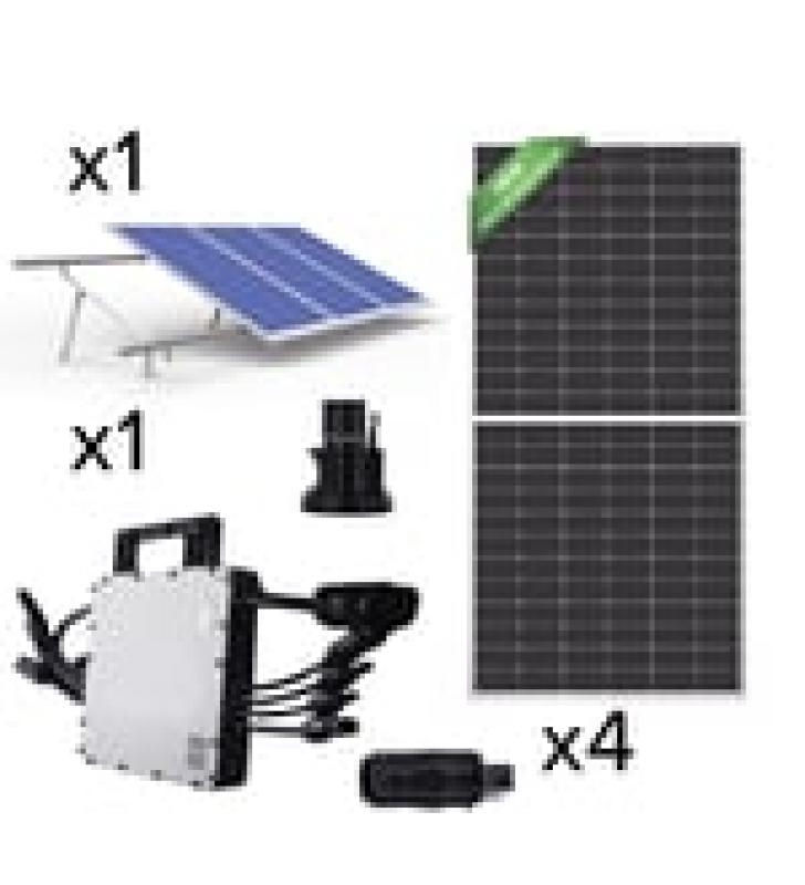 KIT SOLAR PARA INTERCONEXION DE 1.5 KW DE POTENCIA, 220 VCA CON MICROINVERSOR HOYMILES Y 4 PANELES DE 450W ECO GREEN