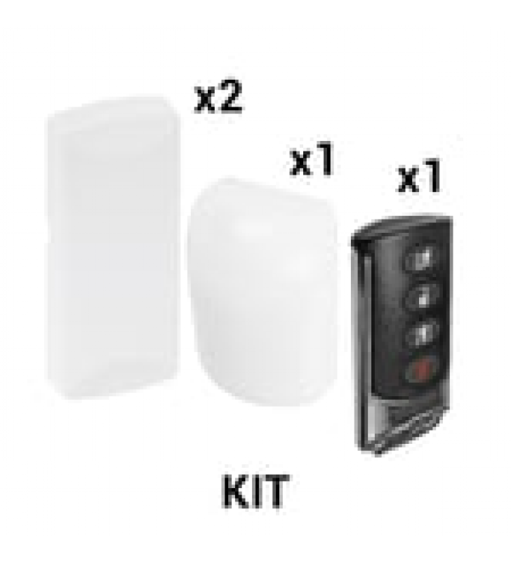 KIT BASICO SENSORES INALAMBRICOS - INCLUYE 2 CONTACTOS MAGNETICOS, 1 PIR Y 1 LLAVERO - COMPATIBLES CON HONEYWELL Y PRO4GLTEM
