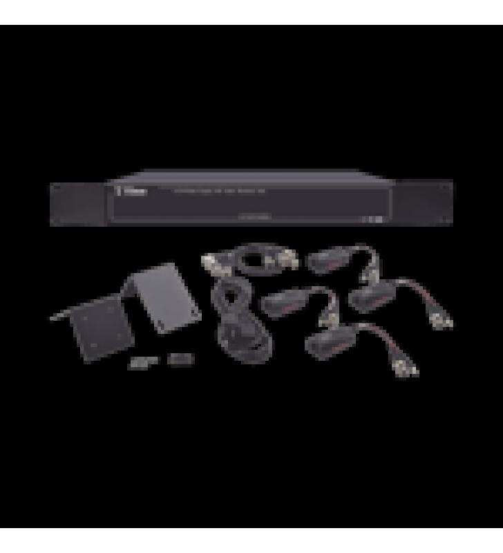 150 METROS EN 4K, 200 METROS EN 5 MP, VIDEO+PODER / 4 CANALES / TODO INCLUIDO PARA RACK /  PARA TRANSMISION DE ALIMENTACION ( DE 36 VCD A 12 VCD) Y VIDEO (HD-TVI) / 4K / SIN RUIDO / INSTALACION LIMPIA