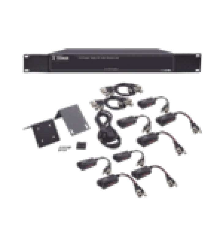 150 METROS EN 4K,  200 METROS EN 5 MP,  VIDEO+PODER / 8 CANALES / TODO INCLUIDO PARA RACK /  PARA TRANSMISION DE ALIMENTACION ( DE 36 VCD A 12 VCD) Y VIDEO (HD-TVI) / 4K / SIN RUIDO / INSTALACION LIMPIA