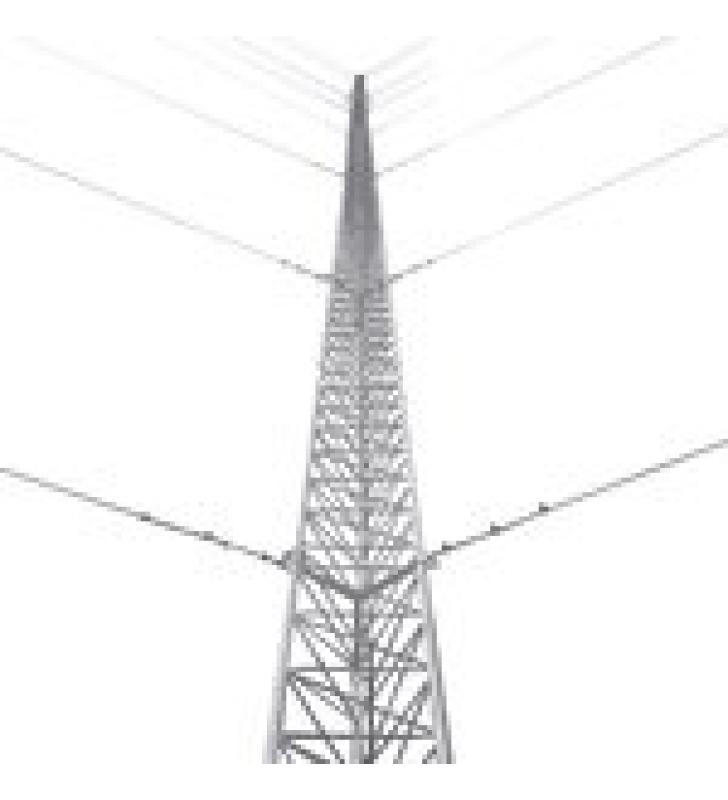 KIT DE TORRE ARRIOSTRADA DE TECHO DE 6 M CON TRAMO STZ30 GALVANIZADO ELECTROLITICO (NO INCLUYE RETENIDA).