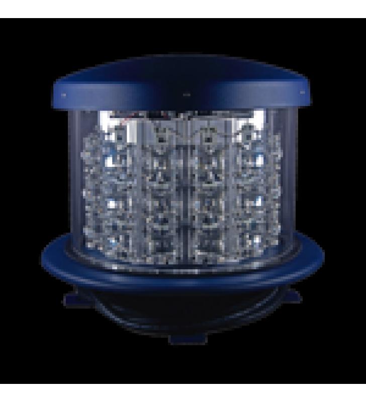 LAMPARA DE OBSTRUCCION ROJA TIPO L-864, LED  DE MEDIA INTENSIDAD, (120 - 240 V CA).